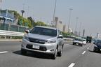 トヨタ 新型ハリアーハイブリッド(ELEGANCE)の高速道路燃費測定中/湾岸道路にて3