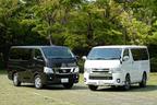 (左)日産 NV350キャラバン/(右)トヨタ 新型ハイエース