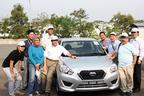 ダットサン GOとインドネシアを取材中の自動車評論家 松下宏氏