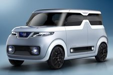 日産、未来型EV「テアトロ for デイズ」を世界初公開! ~インテリアは真っ白&スイッチ類が消えた!?~【東京モーターショー2015】