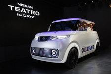 日産「テアトロ for デイズ」白いキャンバスを自分色に染められる軽EVが登場!【TMS2015】