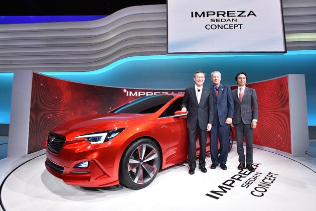 スバル、次期「インプレッサ G4」にあたるコンセプトモデル『インプレッサ セダン コンセプト』世界初公開