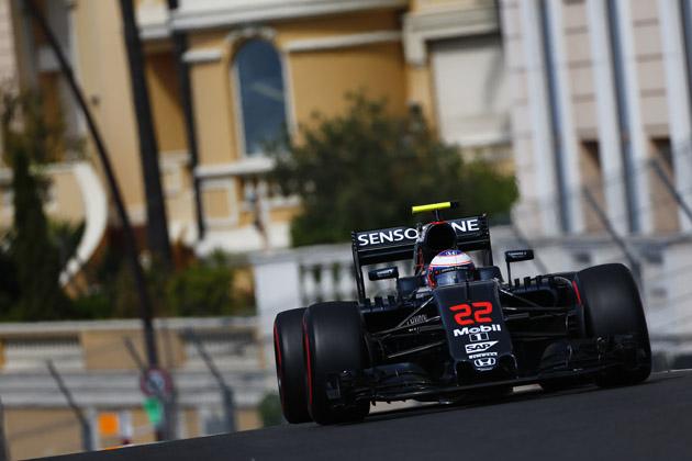 2016 F1 モナコGP 1日目フリー走行にて、ジェンソン・バトン選手