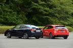 (左)スバル 新型 インプレッサG4(4ドアセダン/プロトタイプ)/(右)スバル 新型 インプレッサスポーツ(5ドアハッチバック/プロトタイプ)