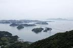 瀬戸内海・来島海峡大橋<亀老山展望公園からの眺め>