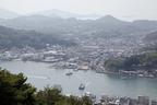 千光寺公園頂上展望台から望む尾道・向島の美しい眺め