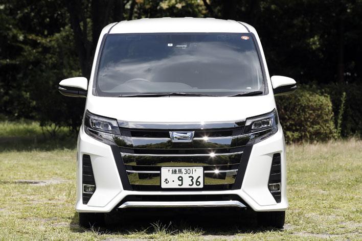 トヨタ 新型ノア(2017年7月マイナーチェンジ)フロントビュー