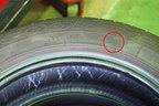 タイヤ製造年月は赤丸部分で確認できます