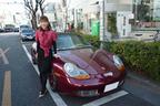 塩村さんと愛車のボクスター