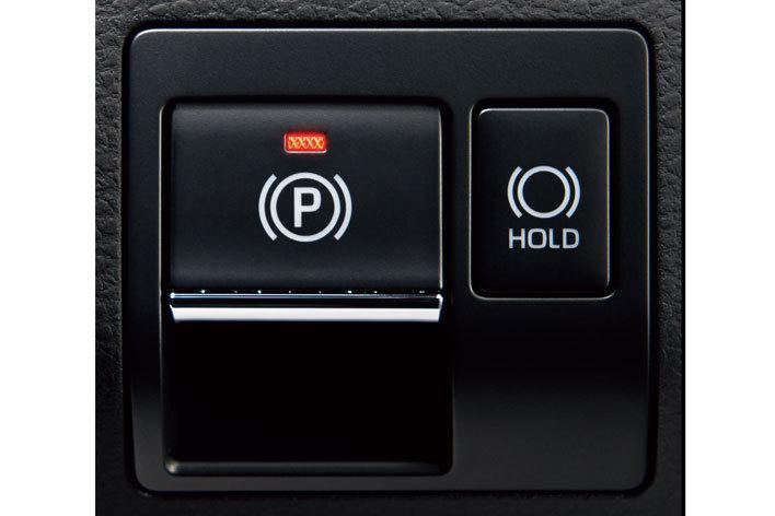 ▲右の「HOLD」ボタンがオートブレーキホールド