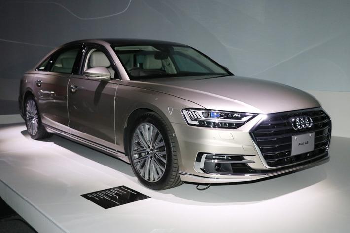 アウディ、新型A8に量産車初のレーザースキャナーによる運転支援システム搭載