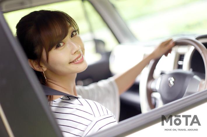 【私をドライブに連れてって】~スズキ ハスラー × 林紗久羅~