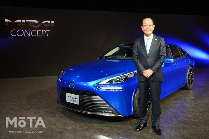 初代に続き新型MIRAIも担当するトヨタ自動車の田中 義和 チーフエンジニア