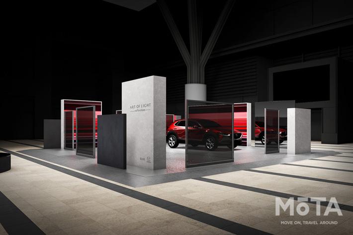 マツダ CX-30をデザインイベントで展示