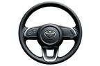 トヨタ 新型車ライズ ウレタン3本スポーク ステアリングホイール (シルバー塗装付)