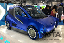 環境省ブースに出展された「All GaN Vehicle(AGV)」