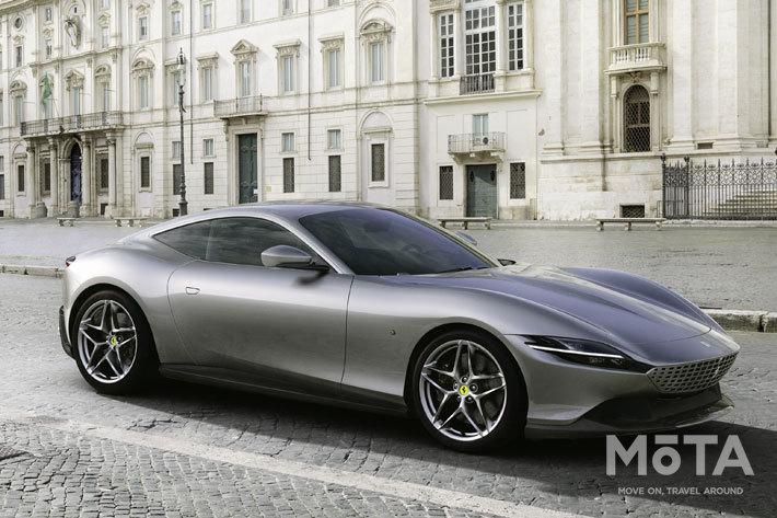 フェラーリ 新型クーペ「ローマ」登場|620馬力のV8ターボエンジン搭載
