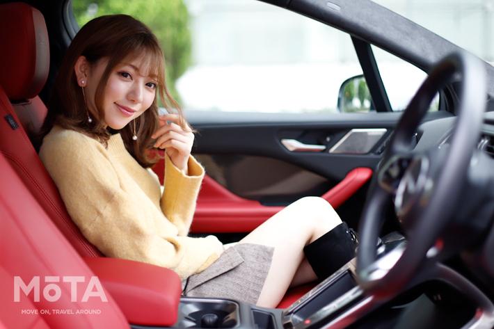 【美女の乗るクルマ】-scene:22- Jaguar I-PACE × 神尾美月
