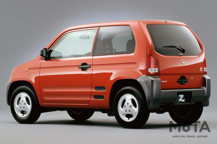 ■全長×全幅×全高:3395mm×1475mm×1675mm ■エンジン:直列3気筒 656cc ガソリンターボ ■最高出力:64PS/6000rpm ■最大トルク:9.5kg・m/3700rpm ■トランスミッション:4速AT ■駆動方式:4WD ■販売期間:1998年~2002年 ※スペックは、1998年式 ターボ