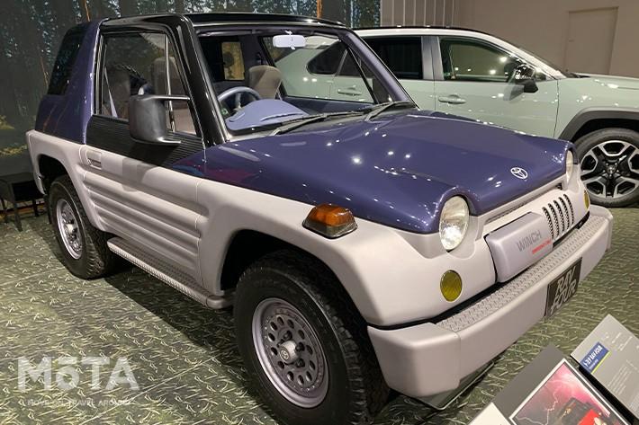 市販モデルとは異なり、コンセプトカー時代は丸目ヘッドライトが特徴であった