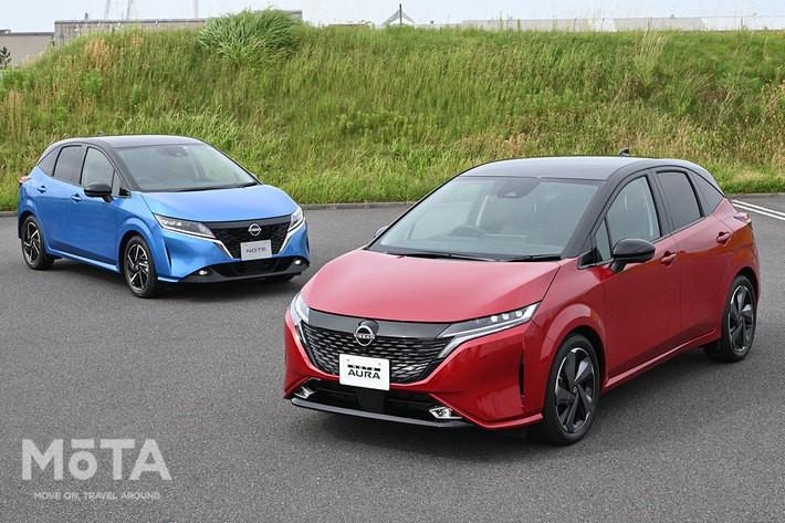 日産 新型「NOTE AURA(ノート オーラ)」[2021年6月15日(火)発表・2021年秋発売予定]