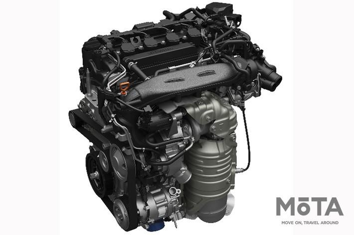 2モーター式ハイブリッド「e:HEV」は継続採用される, 1.5リッターVTECターボエンジン(写真はシビック用)