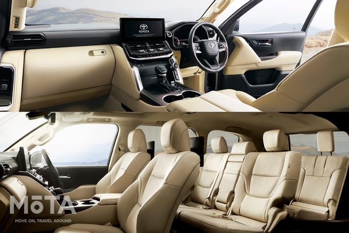トヨタ 新型ランドクルーザー300 ZX(ガソリン車:3列・7人乗り/内装色 : ニュートラルベージュ) 内装・インテリア[2021年8月2日フルモデルチェンジ] [Photo:TOYOTA]