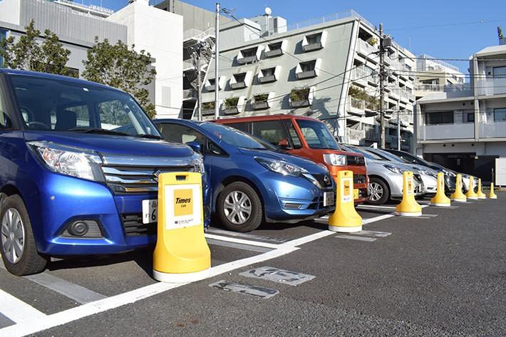 街中の駐車場でも見かける機会の多いタイムズカー